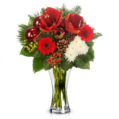Christmas flower bouquets