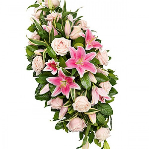lily and rose funeral flowers