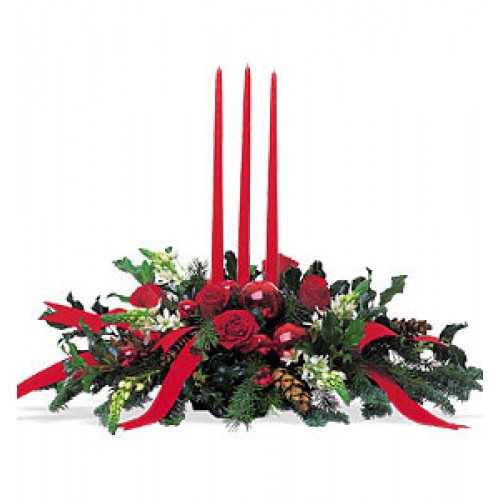 Christmas Flower Arrangements.Christmas Baubles Arrangemebt