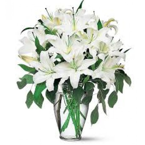 Christmas lily boquets