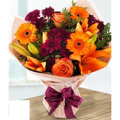 Salthill Floral Sunset Hand-Tied Bouquet