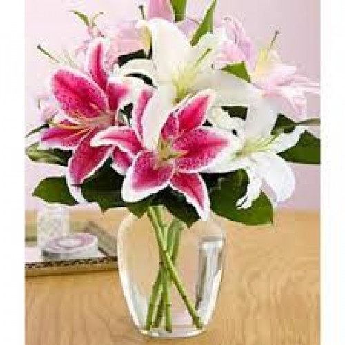 Pink & White Lilies Top Selling Flowers