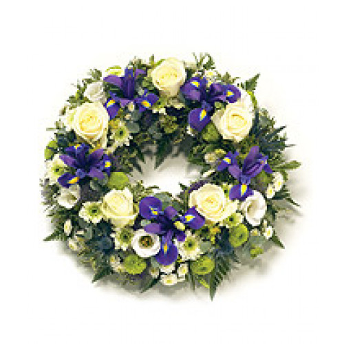 Traditional Round Wreath Funeral Flowers
