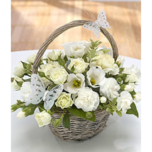 White cream wishes white cream wishes flower arrangements mightylinksfo