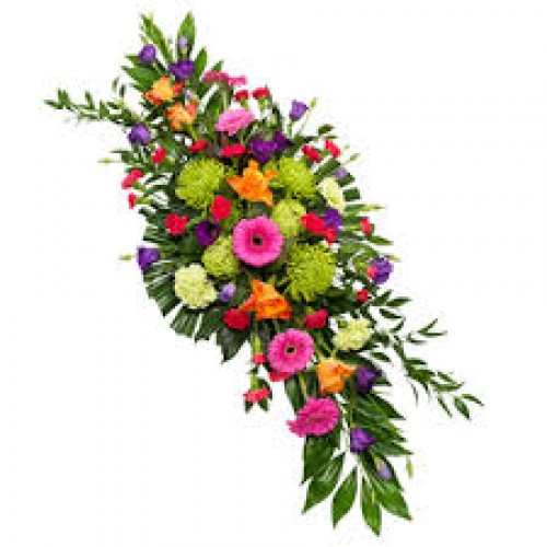Colourful Funeral Spray