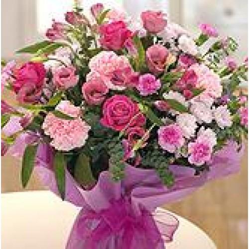 Pink Flowers Knocknacarra Florists